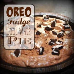 Oreo Fudge Cool Whip Pie