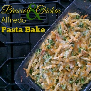 Broccoli and Chicken Alfredo Pasta Bake 600