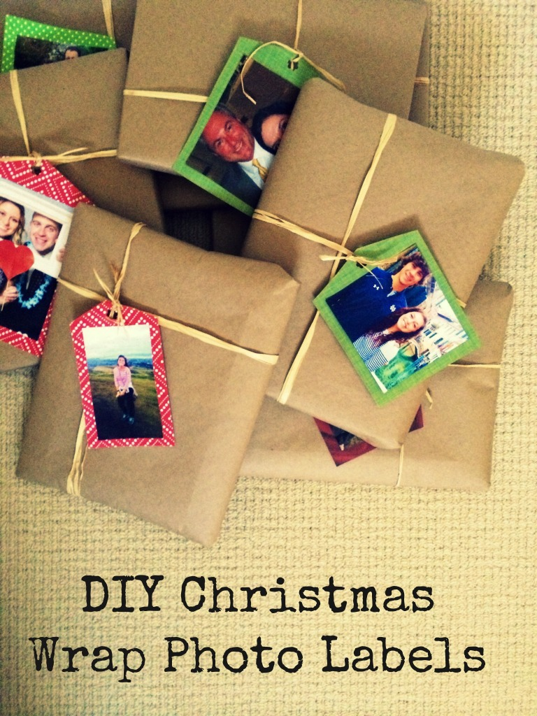 DIY Christmas Wrap Photo Labels