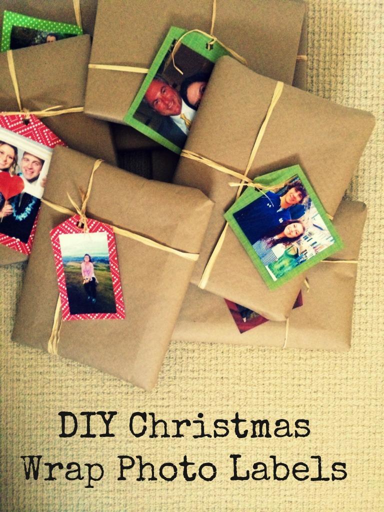 DIY Christmas Wrap Photo Labels