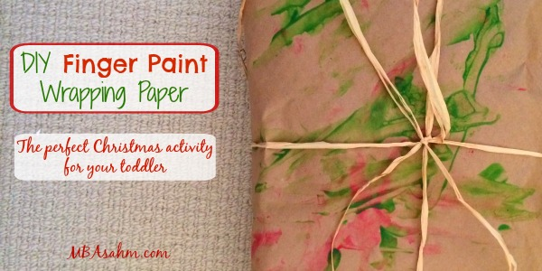 DIY Finger Paint Wrapping Paper
