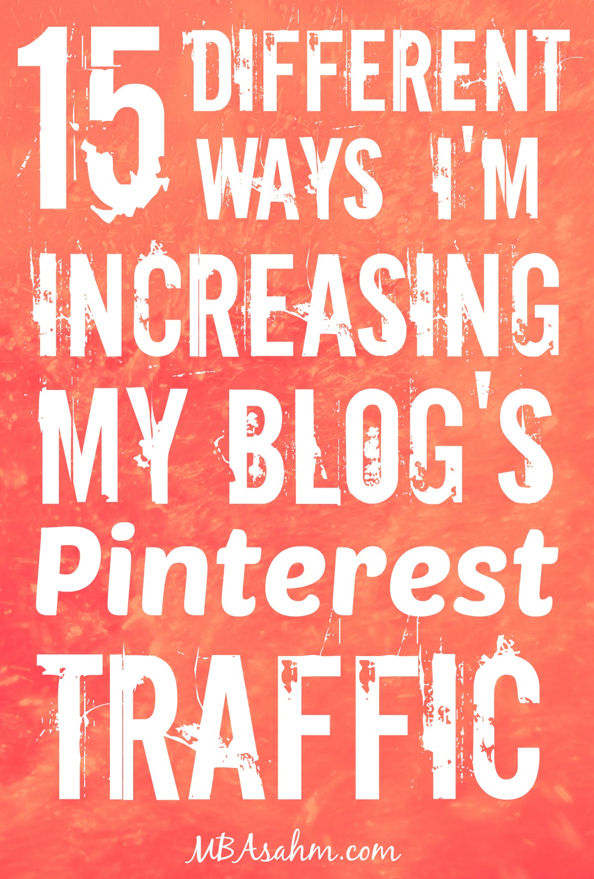So much of my traffic comes from Pinterest that I'm constantly trying new ways to get more traffic. Click through to see what works!