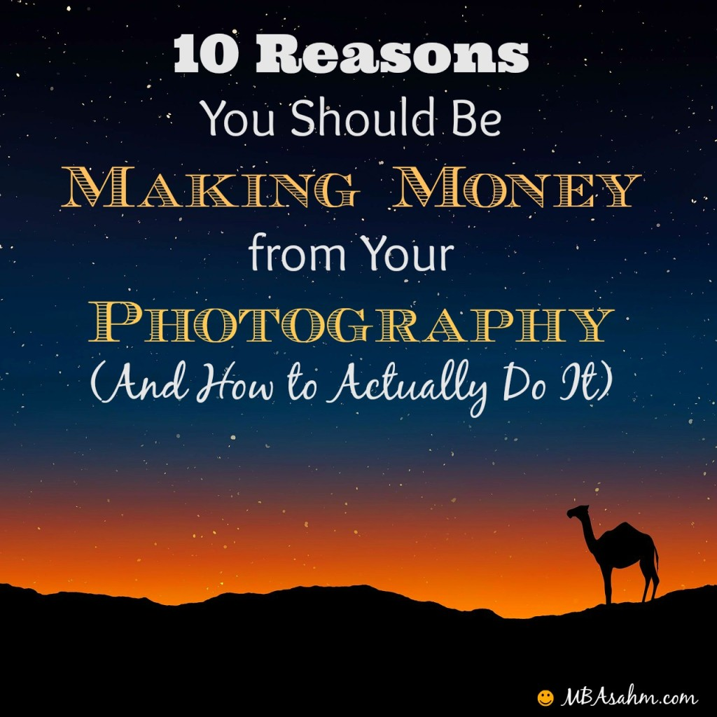 Making money from your photography is one of the easiest and most gratifying sources of side income. If you aren't doing it already, you need to check out this post!