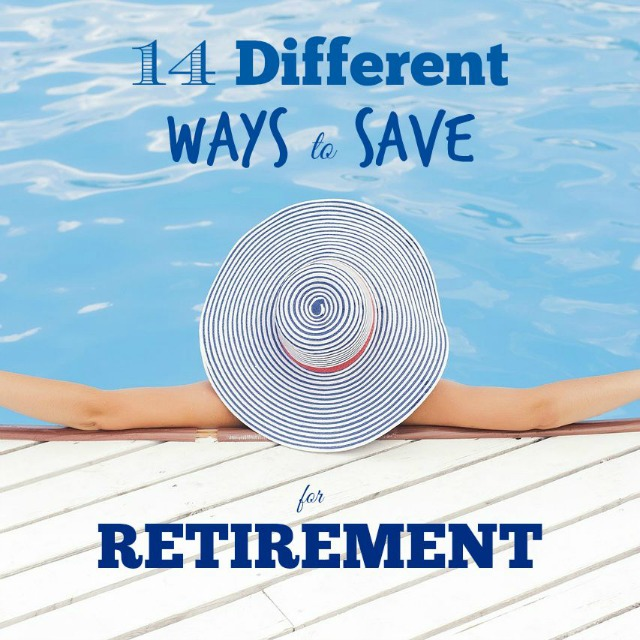 I am totally addicted to saving for retirement. Luckily there are sooo many different ways to do it! Check out this list to see if any will work for you.