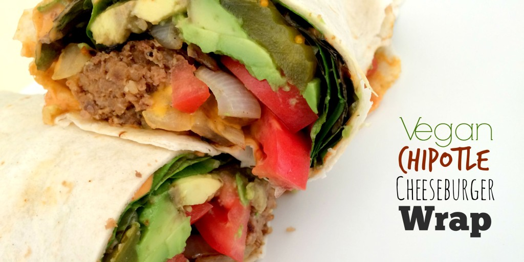 Vegan Chipotle Cheeseburger Wrap