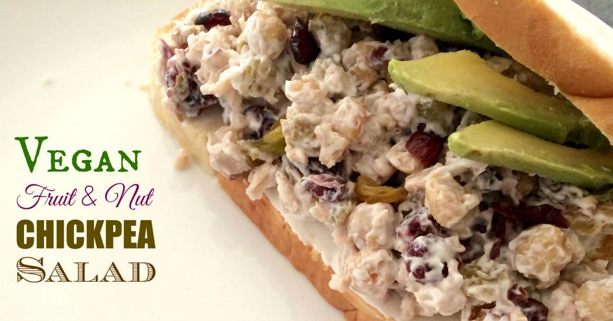 Vegan Fruit & Nut Chickpea Salad - MBA sahm