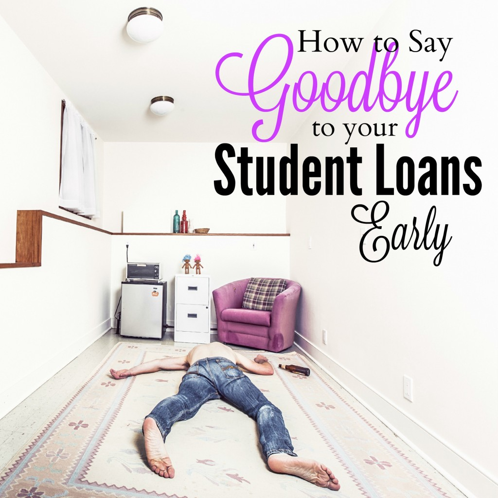 Paying off student loans early will open up sooo many new opportunities. There are a lot of different ways to get this done fast.