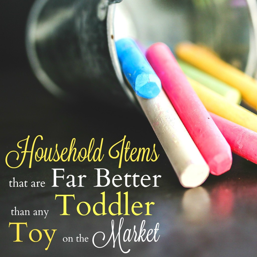 You don't need to spend tons of money on toddler toys. You've got so many forms of entertainment right in front of you! Click through to check out my list of household products that double as great toddler toys (and save yourself the cash!).