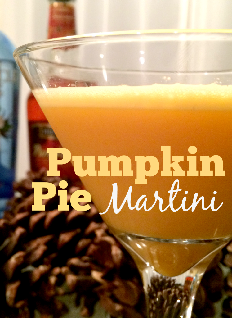 This pumpkin pie martini is a perfect fall cocktail and great for Halloween and Thanksgiving!  It's a strong martini, so be careful!  But enjoy. :)