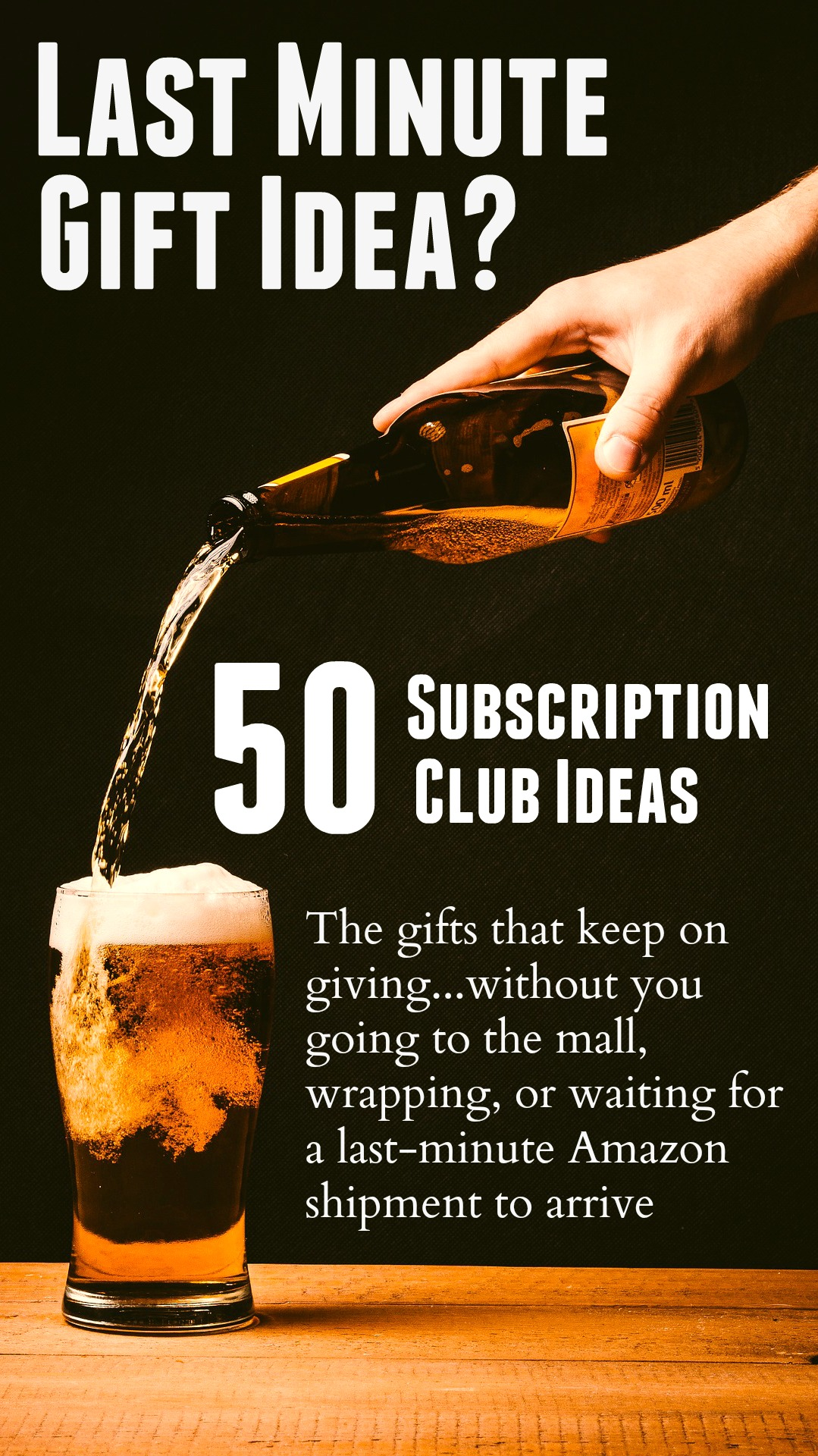 Subscription clubs are the best idea for people who already have everything (or just don't need more stuff). They keep on giving all year, save money, and are almost always consumable! Here's a list of over 50 different awesome clubs that you can gift this year.