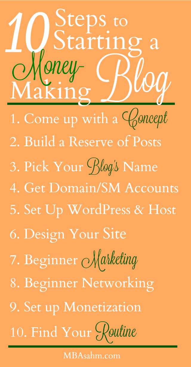These 10 steps will help get your dream blog started so you can make money from home!