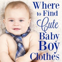 Shopping for baby boy clothes is easier than you think! There are so many fun options. This list includes all my favorites!