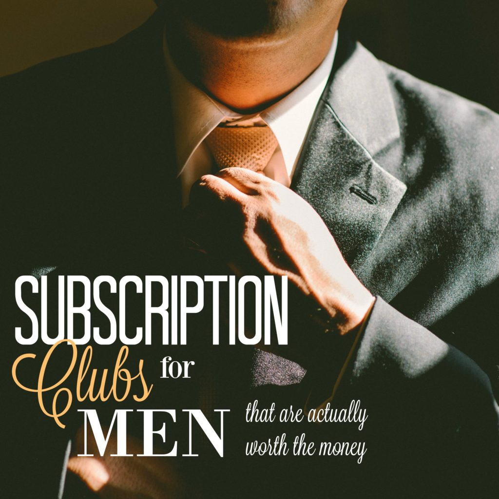 Nothing beats an amazing subscription club, especially ones that are geared towards men! Check out this list for some great ideas.