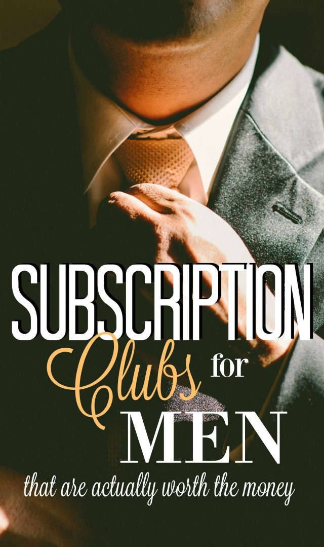 Subscription clubs for men are one of the greatest ideas out there. They're the gift that keeps on giving!  And they definitely make shopping easier.  Check out these ideas to see if they're a good fit for you this season.