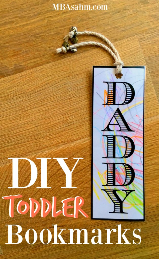 Making DIY bookmarks with your toddler is such a fun and inexpensive activity! It's a great add-on to any gift!