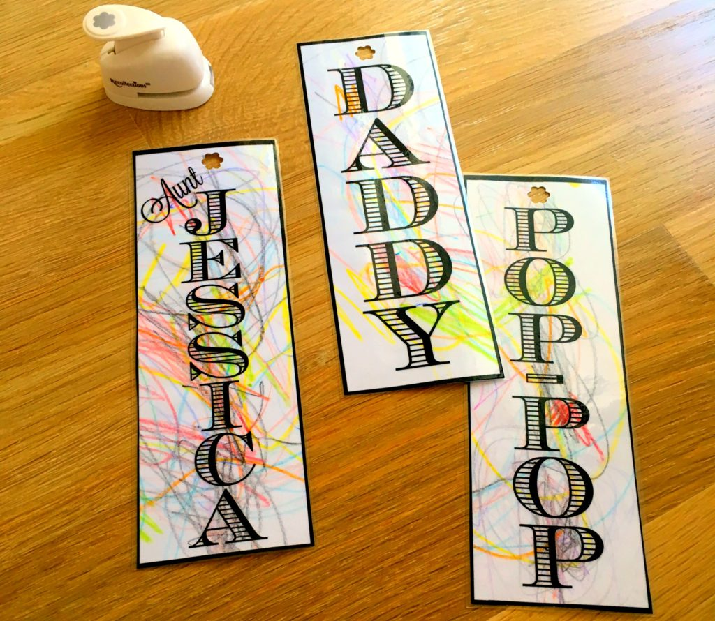 Making bookmarks with your toddler is such a fun and inexpensive activity! It's a great add-on to any gift!