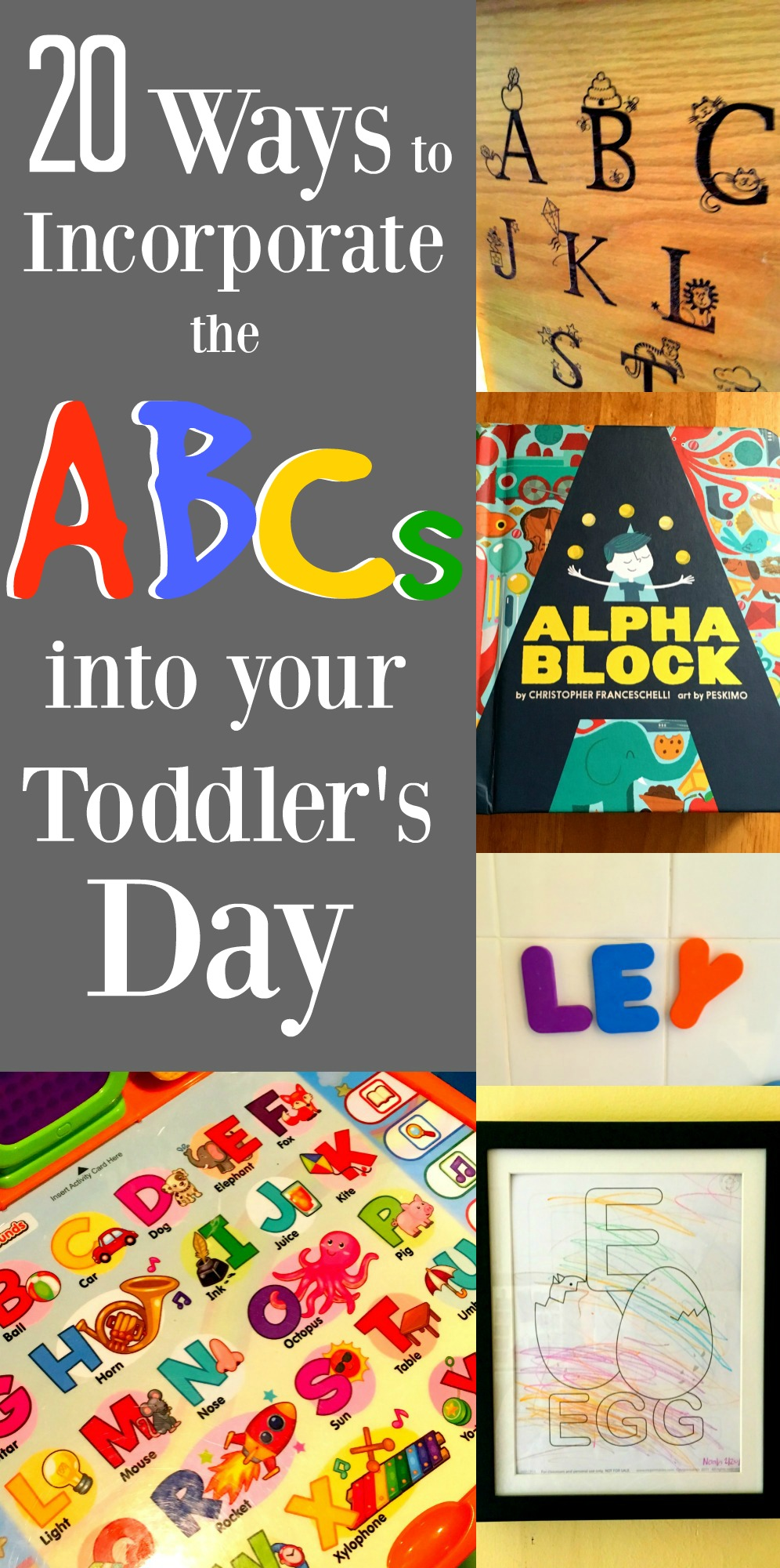 I love watching my son learn the ABC's and there are so many fun ways to teach him! Check out this list for some good ideas.