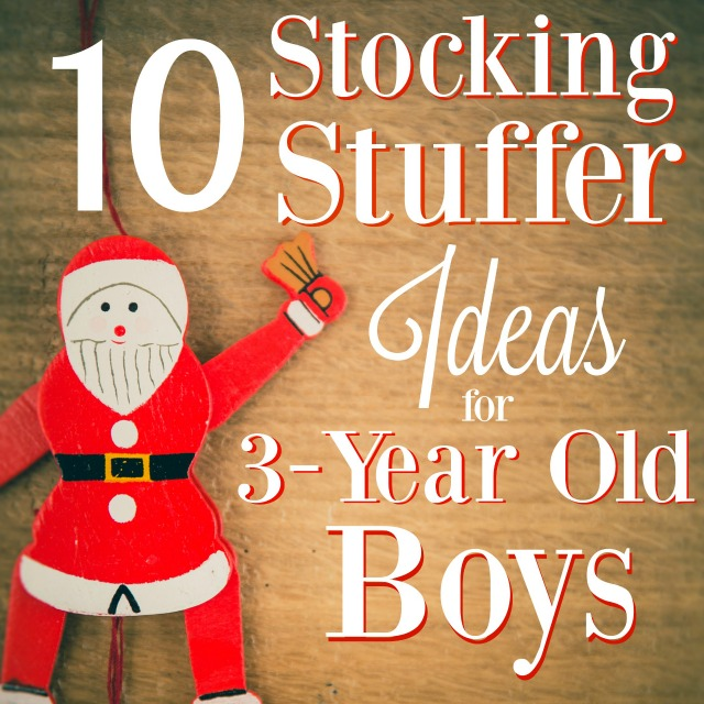 These are great ideas for stocking stuffers for 3-year old boys. Make the shopping easy this year and check out this list!