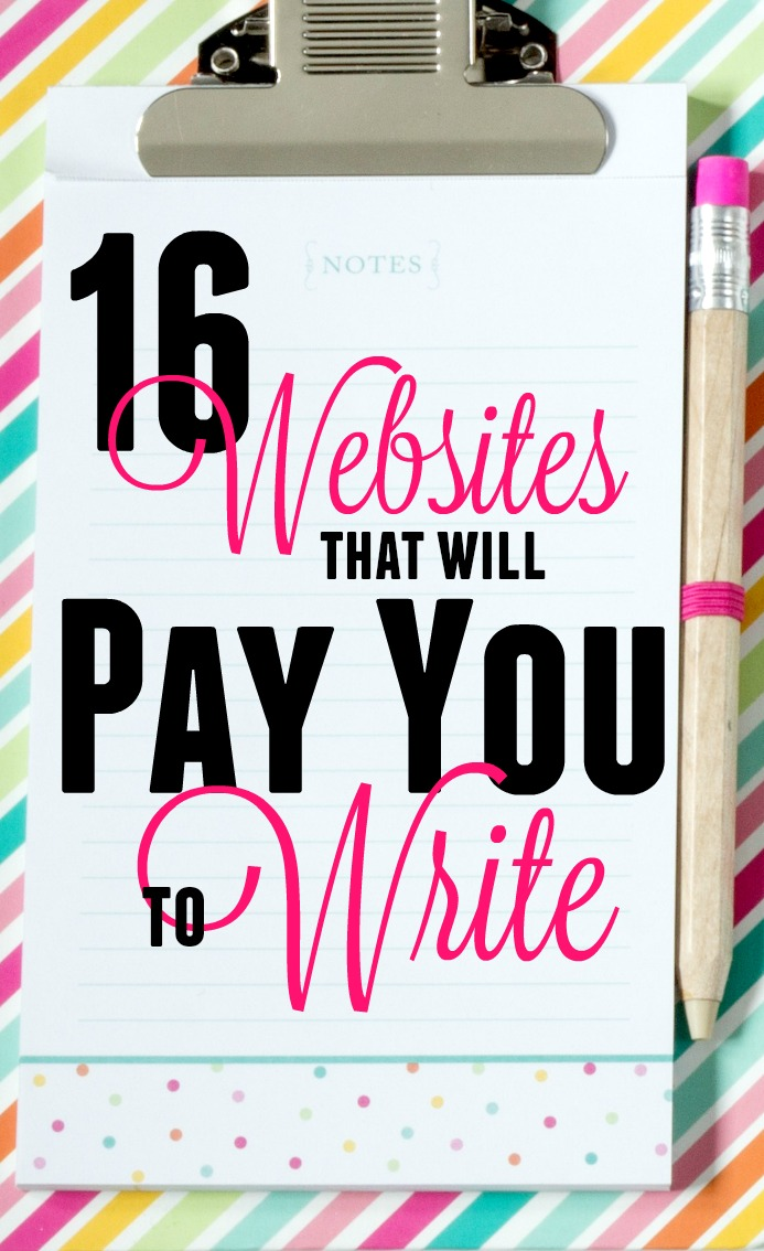 If you want the most flexible work arrangement possible, writing is the way to do it! To get you started, here are 16 websites that will pay you to write for them.