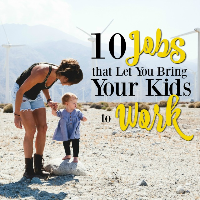 If you need a job that lets you take your kids to work with you, these may be the jobs for you! Part-time, full-time, or at home, there are more options than you think if you want to work and still be home with your baby or children.