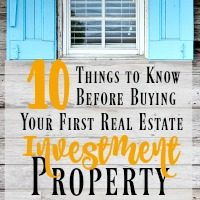 10 Things You Need to Know Before Buying Your First Investment Property