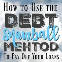 Using the Debt Snowball Method to pay off your loans is the quickest and easiest way to start a debt-free life.