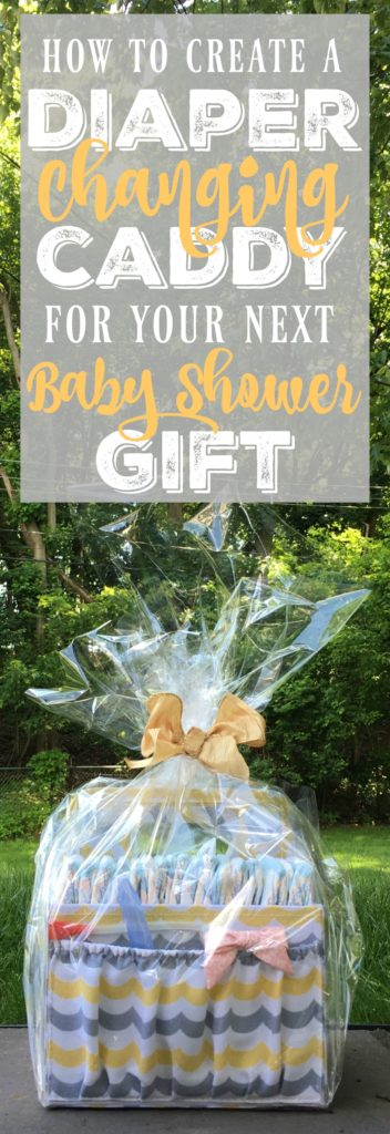 This diaper caddy is the perfect DIY baby shower gift for your next pregnant friend! It contains everything they'll need to take care of their baby in the first few months and it's sooooo handy!