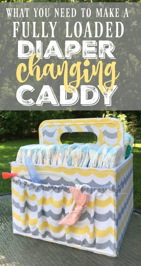 This fully-loaded diaper caddy makes a really easy DIY baby shower gift that is perfect for newborns or pregnant women. It's easy to make and has everything they'll need for a new baby!