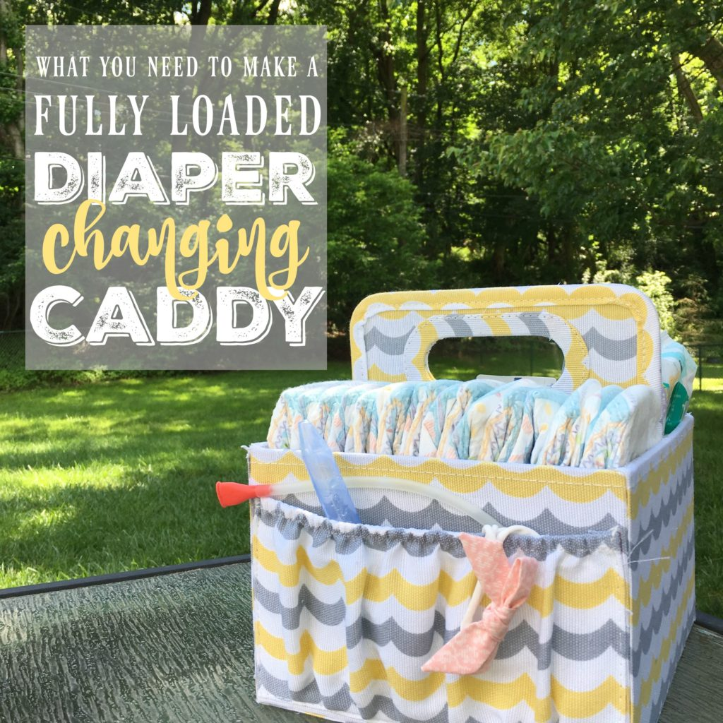 This diaper caddy gift idea is a really fun DIY baby shower gift or even just a great idea for your own child!