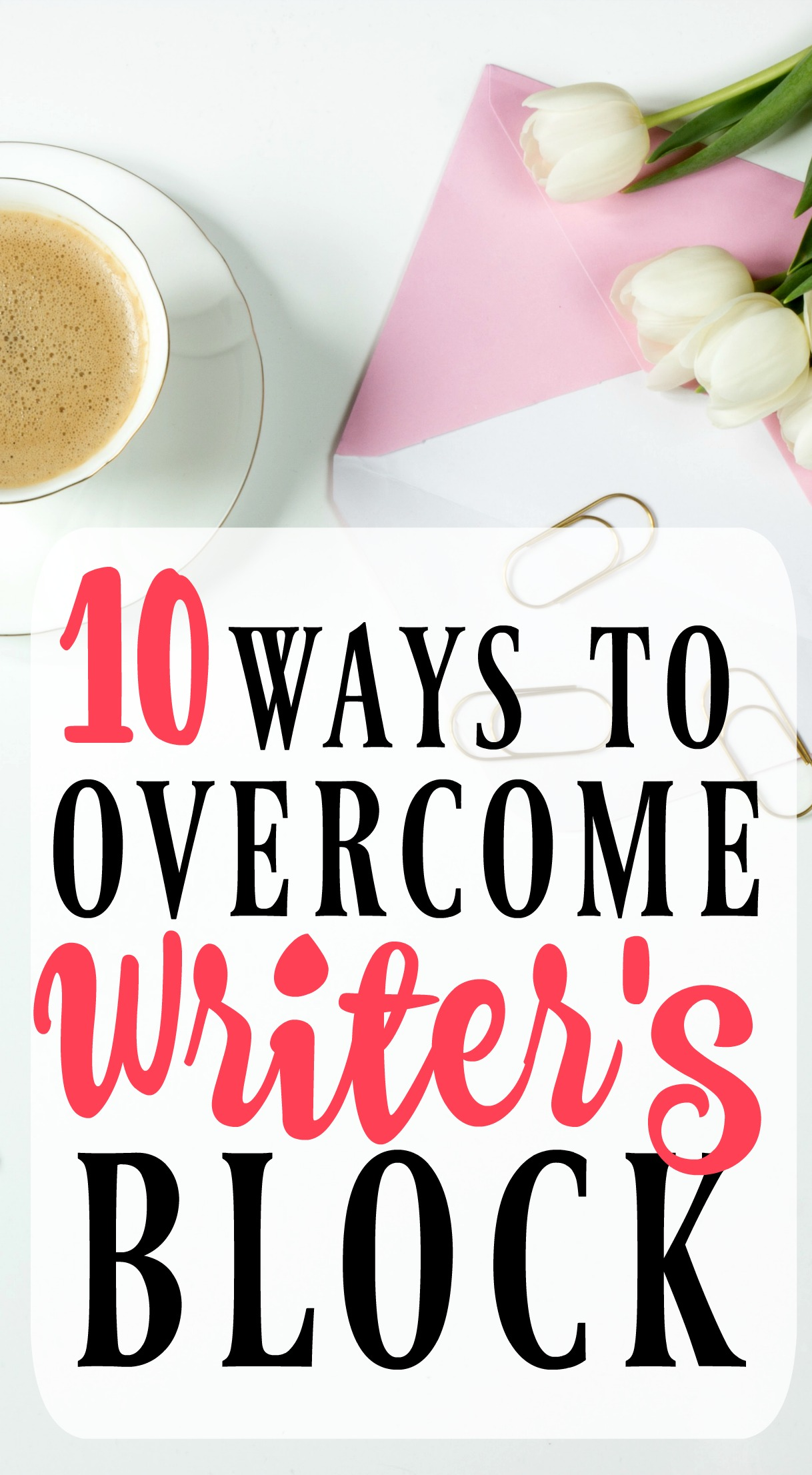 These tips will help to fight writer's block and let you get more writing done!