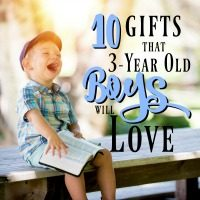 10 Gift Ideas for 3-Year Old Boys