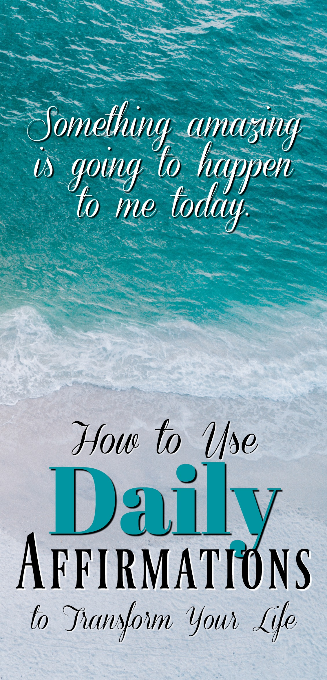 Daily affirmations are one of the quickest and easiest ways to completely transform your life and all it takes is positive-thinking, self-empowerment, and the law of attraction!