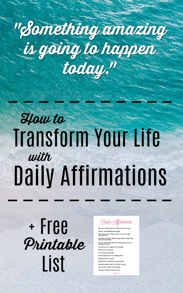 This free daily affirmations printable will help get you started down the path of transforming your life with daily affirmations!