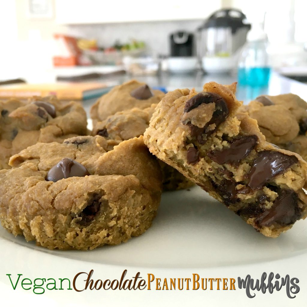 These vegan chocolate chip peanut butter muffins are one of the best recipes I've come across! My toddler loves them, they have a ton of plant-based ingredients, and of course they're absolutely delicious.