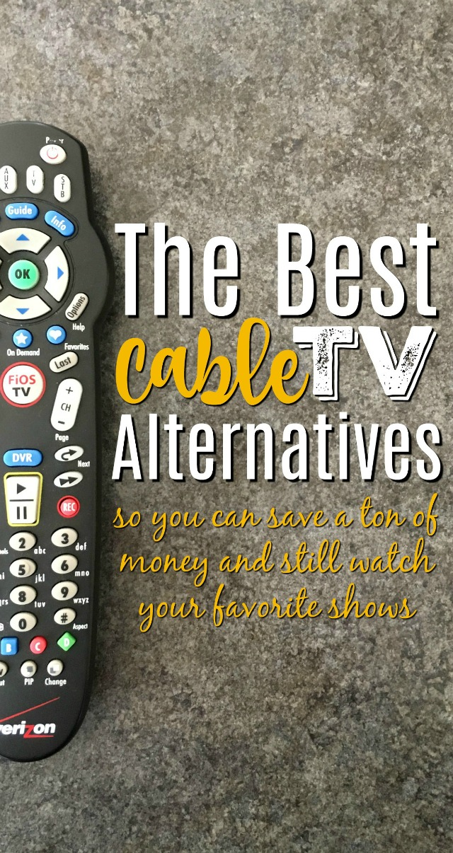 Nowadays there are so many cable TV alternatives that it's a wonder any of us use old fashioned cable! If you've considered cutting the cord before, these are the best tv alternatives to start with so that you can start to watch TV without cable!
