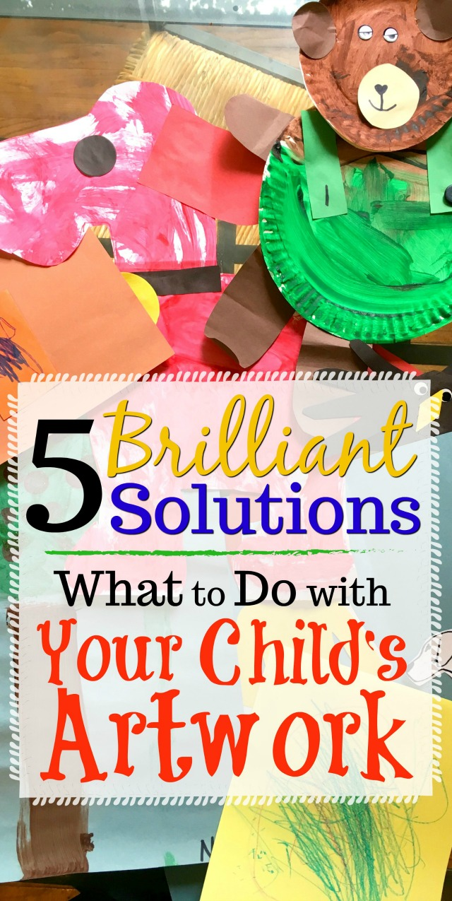 When I finally figured out what to do with my child's artwork, I was ecstatic! There are so many great ways to store and display it. Check out these ideas to see what will work for you!