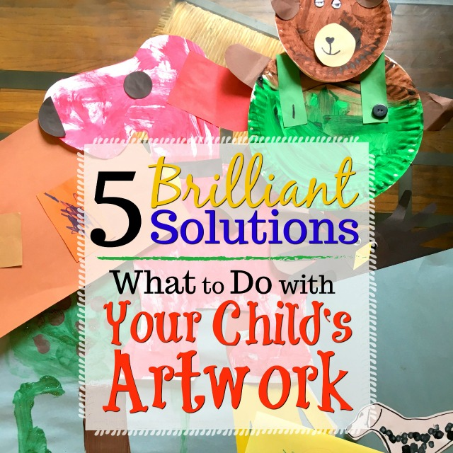 What do you do with all of your child's artwork? This question plagued our house until I finally realized all the potential solutions!