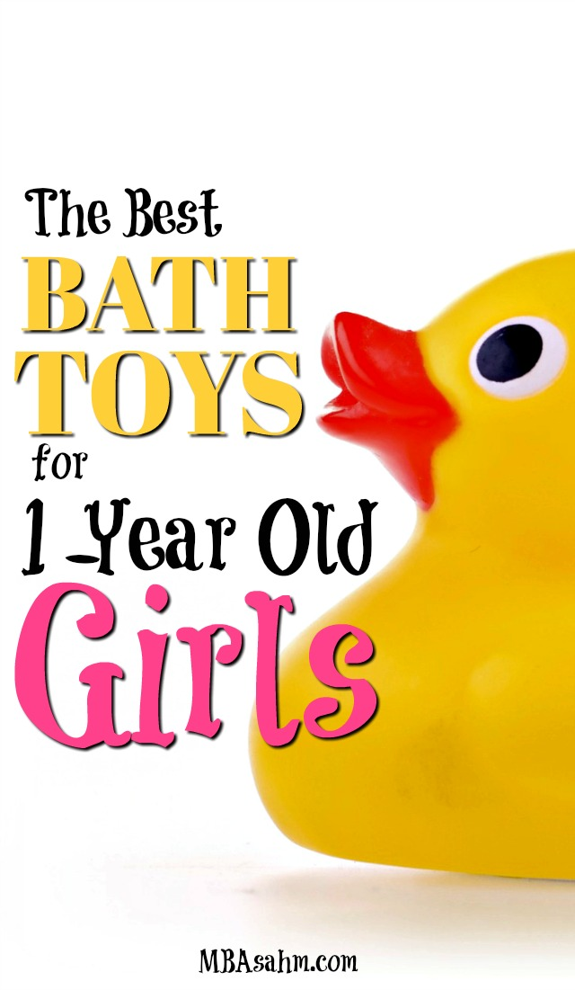 If you want creative gift ideas for 1-year old girls, consider bath toys! Bath time is so much fun for 1-year olds, you really can't go wrong here!