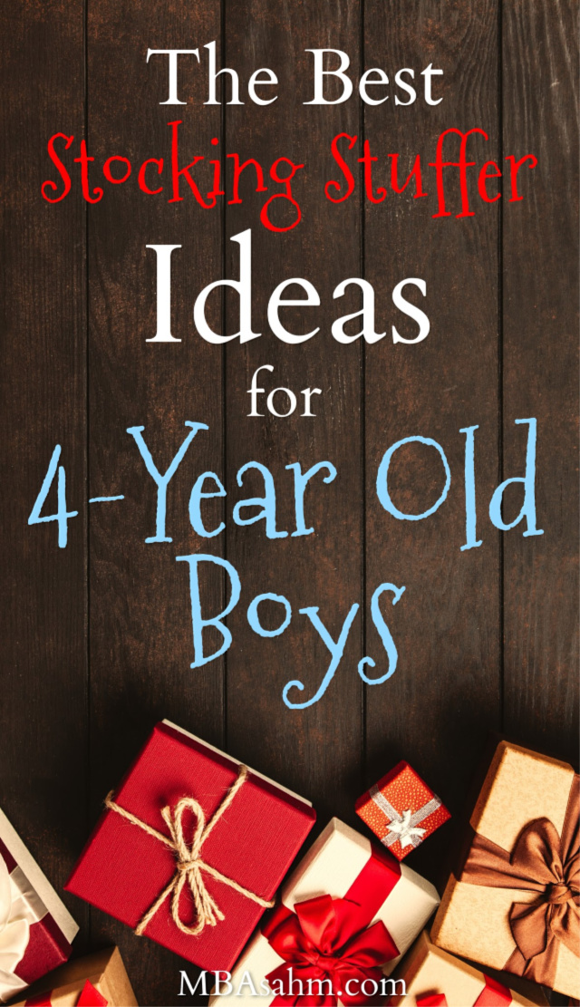 These stocking stuffer ideas for 4-year old boys are the best things you can find for this Christmas!  Great for gift ideas or 4-year old stocking stuffers!