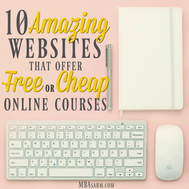 These websites have an amazing catalog of free and cheap online courses so you can improve your skills and your resume. There's no better form of self-care than investing in yourself!