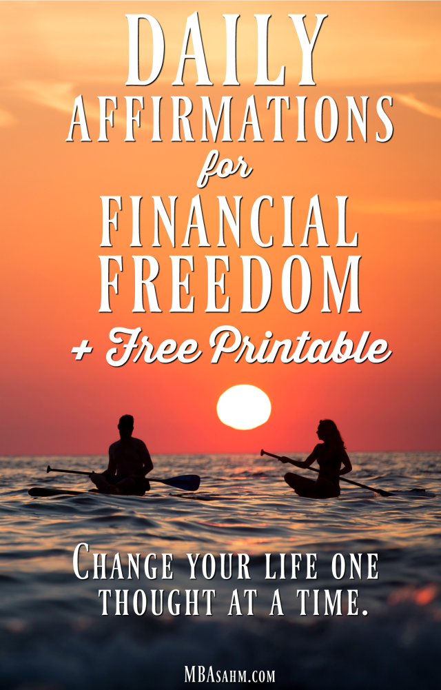 This free printable list of money affirmations will help you achieve financial freedom quickly and easily!