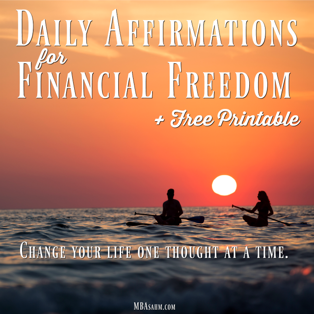 This free printable list of money affirmations will help you achieve financial freedom!