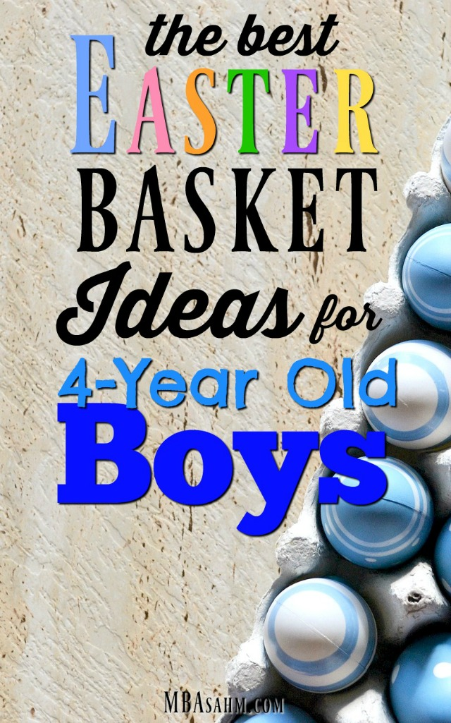 These Easter gift ideas for 4-year old boys will make Easter basket shopping easy this year!
