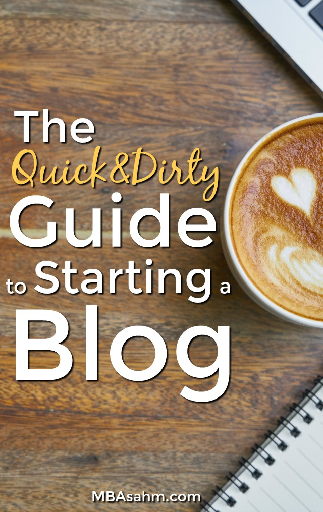 If you want to know how to start a blog quickly, this guide is for you! A blog is one of the best ways to help achieve financial freedom, so the best time to start is now!