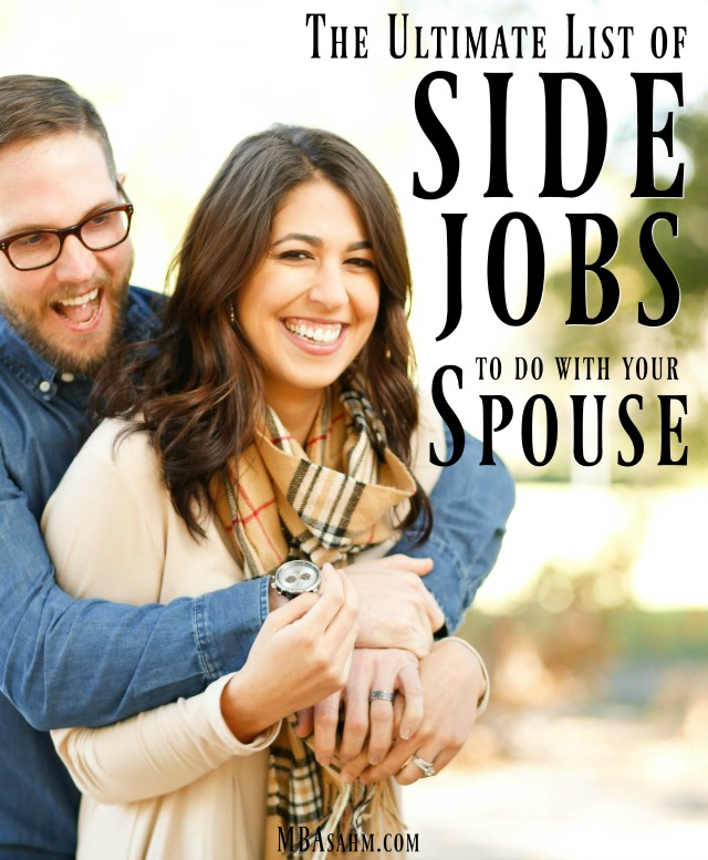 Working with your spouse can be so, so rewarding and these side jobs for couples are the perfect way to get started!