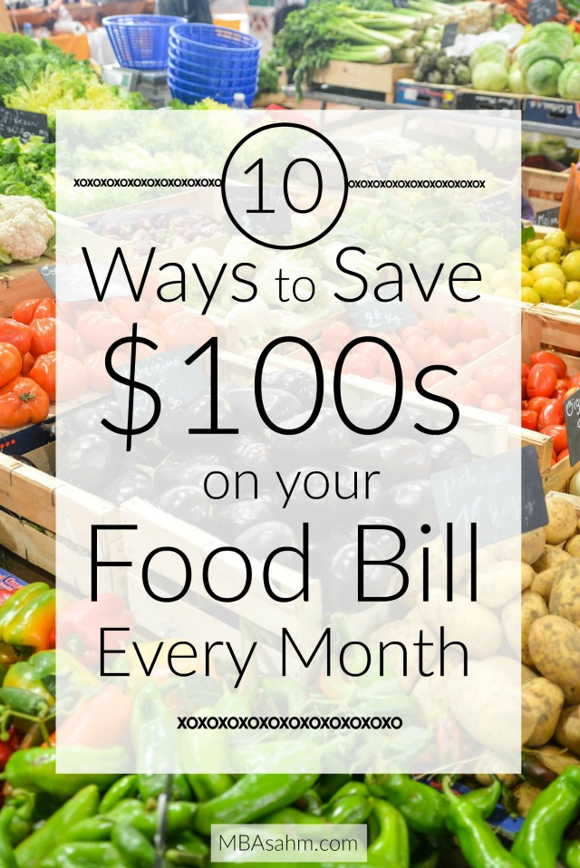 You can save hundreds on your grocery and food bill by making tiny adjustments. Follow these steps and you'll be saving money all year.
