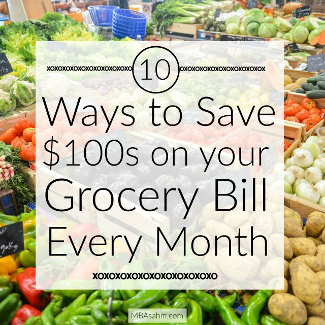 If you want to save money by cutting your grocery bill, give these tips a try!  I was able to cute my monthly food bill in half by implementing these steps!