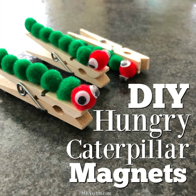 This Hungry Caterpillar craft for kids is so easy and the perfect gift idea for grandparents, aunts, uncles, or teachers. It's easy to do and is useful as a magnet to hold other pieces of artwork!