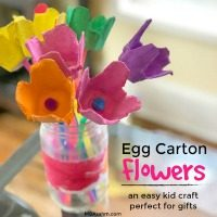 This egg carton kid craft is the perfect gift idea for grandparents and teachers.