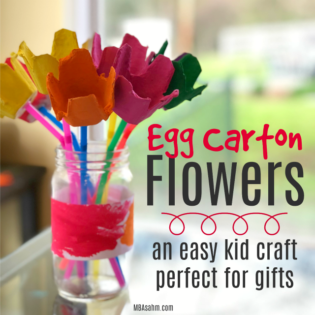 These egg carton flowers are the perfect kid craft to be used for DIY gifts! They are fun to make and inexpensive...plus they'll last forever!